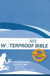 NIV Waterproof Bible, Blue Wave