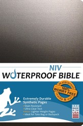 NIV Waterproof Bible Black