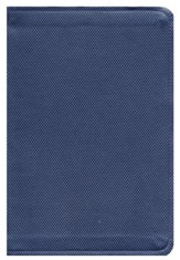 Biblia RVR 1960 Compacta Letra Gde. Ref. Simil Piel, Azul Zafiro  (RVR 1960 LgPt Compact Ref. Bible, Leather Touch, Blue)