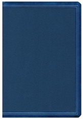 HCSB Super Giant-Print Reference Bible--soft leather-look, cobalt blue (indexed) - Slightly Imperfect