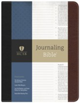 HCSB Journaling Bible--bonded leather, black/brown