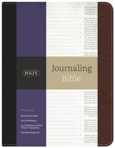 NKJV Journaling Bible--bonded leather, black/brown