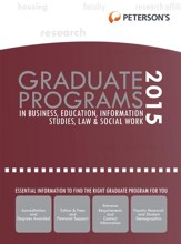 Graduate Programs in Business, Education, Information Studies, Law & Social Work 2015 (Grad 6) - eBook
