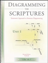 Diagramming The Scriptures: Systematic Approach to Sentence Diagramming Book 1 (Unit 1)
