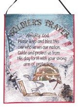 Soldier's Prayer, Tapestry Wall Hanging