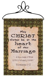 May Christ Be at the Heart of This Marriage, Banner
