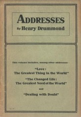 Addresses by Henry Drummond / Digital original - eBook