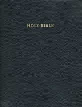 KJV Concord Wide-Margin Reference Bible, Calf Split leather, black