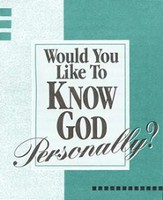 Would You Like To Know God Personally? Community Pack (case of 1800 tracts)