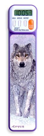 3D Snow Wolf Digital Timer Bookmark