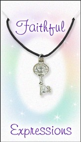 Cross key Necklace, Black