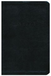 KJV Personal Size Giant Print Reference Bible, imitation leather, black