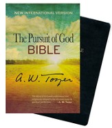 The Pursuit of God Bible, New International Version, Black Genuine Leather, Thumb Indexed