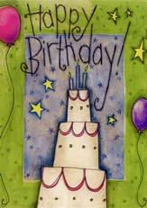 Birthday Cards, Cake Pack of 36