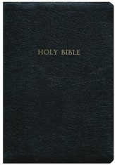 KJV Large Print Wide Margin Bible - Genuine Leather Black - Slightly Imperfect