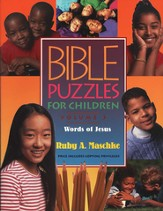 Bible Puzzles for Children Volume 3: The Words of  Jesus