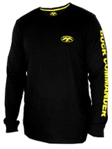 Duck Commander Shirt, Long Sleeve, Black, Large