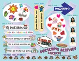 FaithWeaver Friends Preschool Activity Stickers (pkg. 5), Spring 2014
