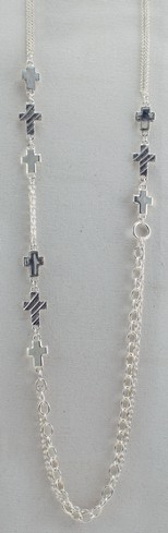 Trinity Cross Necklace, Silver