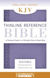 KJV, Thinline Reference Bible Portable, Flexisoft  leather, Lilac