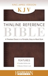 KJV, Thinline Reference Bible Portable, Flexisoft leather, Chestnut Brown
