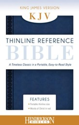 KJV, Thinline Reference Bible Portable, Flexisoft leather, Midnight Blue