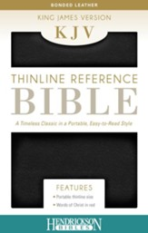 KJV Thinline Bonded leather Black