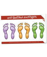 Footprint Stickers, 5 sheets (6 stickers per sheet)