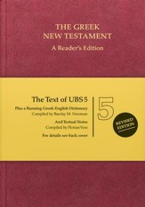 The UBS Greek New Testament: Reader's Edition with  Textual notes, harcover