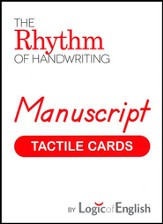 Rhythm of Handwriting Manuscript Tactile Cards