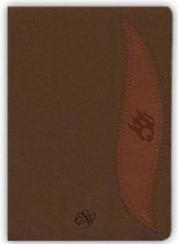 ESV Fire Bible Student Edition Imitation Leather brass  brown/chestnut