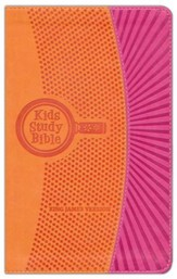 KJV Kids Study Bible, imitation leather orange/pink