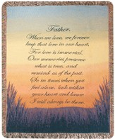 Forever a Father Bereavement Throw