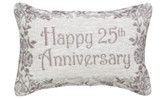 Happy 25th Anniversary, Never Ending Love Pillow