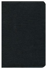 KJV Thompson Chain-Reference Bible, Black  Genuine Leather, Capri Grain, Thumb Indexed