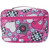 Button and Checker Patchwork Bible Cover, Large