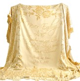 Personalized, Never Ending Love Throw, Gold