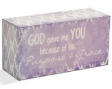 God Gave Me You Message Block