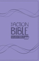 The Action Bible ESV Study Bible Girls Premium  Edition, purple