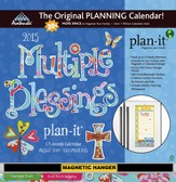 Multiple Blessings Plan-It 2015 Wall Calendar with Scripture
