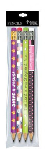 Colorful Pencil Set, Package of 4