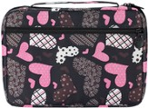Patchwork Hearts Bible Cover, Black and Pink, Large
