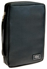 Bible Cover with Ichthus, Black, Medium