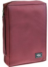 Bible Cover with Ichthus, Burgundy, Medium