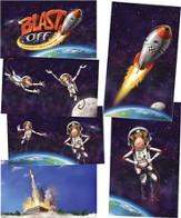 Blast Off Giant Decorating Posters, set of 6