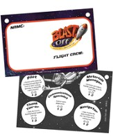 Blast Off Name Badges, pack of 10