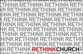Postcard Rethink Church: ...let's not love with words or speech but with action and truth. 1 Jn 3:18 (Package of 25)