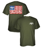 Duck Dynasty, Flag Shirt, Green, Small