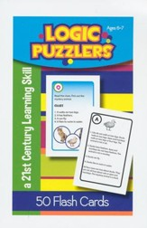Logic Puzzlers Flash Cards, Ages 6-7