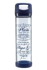 For I Know the Plans I Have For You Glass Water Bottle